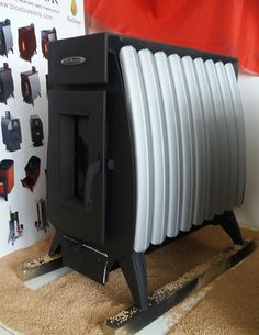 Bio Stove Wood burning stove. Stufa a legna a convettività naturale Battery Fire 13 kw Termofor.