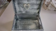 Vintage style . Decoupage box with heart.