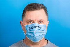Portrait Of A Sick Man Wearing Medical Mask With Text At Blue Background. Protect Your Health Stock Photo - Image of influenza, ncov: 171005152 Business Newsletter Templates, Jet Lag, Influenza, Blue Backgrounds, Sick, Medical, Menswear, Concept, Stock Photos