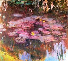 Monet CLAUDE MONET WATERLILIES a series from WikiPaintings Giverny is a place I'd love to meander through. Monet was a good steward of his place and talent. Claude Monet, Artist Monet, Art Amour, Monet Paintings, Art Et Illustration, Impressionist Paintings, Renoir, Beautiful Paintings, Love Art