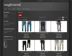 Magik Marvel is a Magento theme specifically built for stores that are selling jeans, denim jackets, skirts, shorts or other related products online. You can download and get the Magento theme up and ready on your site very quickly.