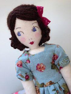 Little Darling Cloth Heirloom Doll by Isabella's Secret Attic, Etsy