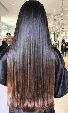 Long Dark Hair, Long Natural Hair, Beautiful Long Hair, Gorgeous Hair, Loose Hairstyles, Straight Hairstyles, Curly Hair Styles, Natural Hair Styles, Chocolate Brown Hair Color