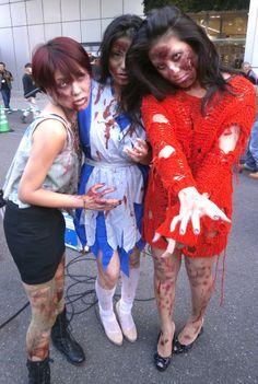 Zombie girls at a Walking Dead Tokyo Promo event http://www.youtube.com/watch?v=LnUXA9n6bAw