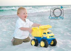 Tonka trucks in the sand. Tonka Trucks, Lawn Mower, Outdoor Power Equipment, Beach, Fun, Lawn Edger, The Beach, Funny