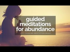 Guided Meditations For Abundance, Health & Wealth - Over 1 Hour of pure positive energy! Be guided to attract abundance, health, wealth, happiness and whatev. Guided Meditation, Meditation Youtube, Power Of Meditation, Meditation Music, Neville Goddard, Stress And Depression, Spiritual Health, Inspirational Videos, Real People