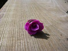 Polymer clay rose ring by JEWELLERYHANDMADECW on Etsy