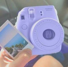 a purple fujifilm modern Polaroid camera. Lavender Aesthetic, Purple Aesthetic, Instax Mini 8, Fujifilm Instax Mini, Polaroid Instax, Tumblr Photography, Camera Photography, Camara Fujifilm, Tumblr Quality