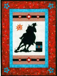 Cowgirl quilt - red & turquoise ! Must have!