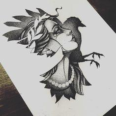 Cool Art Drawings, Art Drawings Sketches, Tattoo Sketches, Tattoo Drawings, Dot Work Tattoo, Arm Tattoo, Body Art Tattoos, Tribal Phoenix Tattoo, Best Tattoo Ever