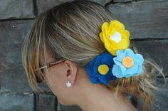 Artesanato e Cia : como fazer Flor de feltro para o cabelo