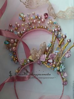 Floral Crown Wedding, Bridal Crown, Metal Headbands, Flower Headbands, Hand Work Design, Princess Crafts, Handmade Wire Jewelry, Diy Hair Bows, Tiaras And Crowns