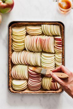 How to make a proper French Apple Tart - {Piece of Pie or Tarte} - Best Tart Recipes Apple Recipes, Baking Recipes, Sweet Recipes, Holiday Recipes, Thanksgiving Recipes, Desserts Végétaliens, Dessert Recipes, Plated Desserts, Apricot Glaze Recipe