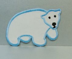 Polar Bear Embroidered Applique DIY Patch by SewProEmbroidery