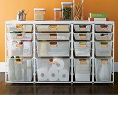Cabinet-Sized elfa Mesh Pantry Drawers
