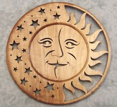 Scroll Saw Pattern - love the Moon and stars                                                                                                                                                      More