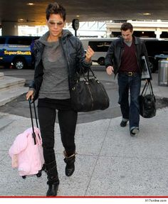 Halle Berry & Olivier Martinez -- Jetting Off to France, Nahla Stays Behind with Gabriel Aubry