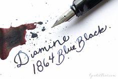 Goulet Pens Blog: Diamine 1864 Blue Black: Ink Review