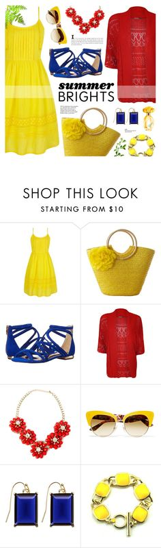 """""""Summer Brights - Crochet Summer Dress"""" by anyasdesigns ❤ liked on Polyvore featuring Yumi, Ted Baker, WearAll, Dolce&Gabbana, Brooks Brothers, GUESS, Tiffany & Co. and plus size clothing"""