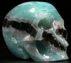 Amazonite Skull 2 Inch Realistic Carved Stone by SandiLaneFineArt
