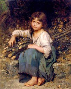 La fille du bucheron Léon Bazile Perrault (1832 – 1908, French)