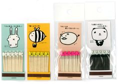 Japanese matchbooks with tiny printed match heads!