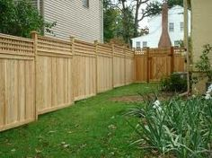 privacy fence slope in back - Google Search