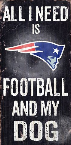 "AmazonSmile : New England Patriots Wood Sign - Football and Dog 6""x12"" : Sports & Outdoors"