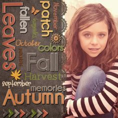 Use your alphabets to make a word cloud on your scrapbook page. Layout made with the Memories & Moments Autumn kit by @Susie Scraps .Kit is available at http://shop.scrapbookgraphics.com/Memories-Moments-Autumn-Bundle-Digital-Scrapbook.html