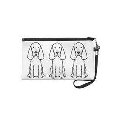 Gordon Setter Dog Cartoon Wristlet Clutch