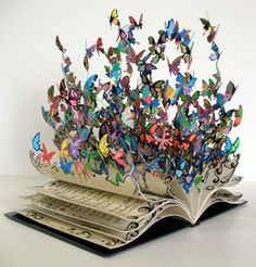An AMAZING book sculpture!