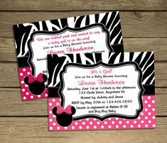 baby minnie mouse baby shower invitation downloadedpartiesplus, invitation samples