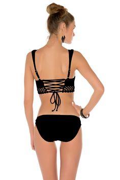 6ac240706a3e7 Becca 2015 It Girl Lace Up Bralette Bikini