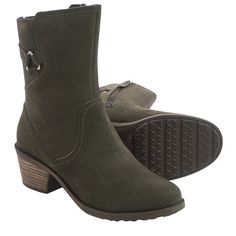 Teva Foxy Mid Leather Boots (For Women) in Black Olive