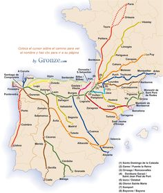 "The ""Way of St James,"" or the Camino de Santiago describes many pilgrimage routes, journeying from various locations in Europe to Santiago de Compostela, Spain. Camino Walk, Camino Trail, The Camino, Saint James, Camino Routes, Valladolid, Bilbao, Poitiers, Colorado Hiking"