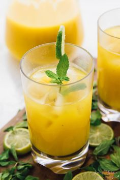 These Mango Mojitos are so easy to make - in your blender! Only 6 ingredients, they're perfect for parties, get togethers and barbecues!