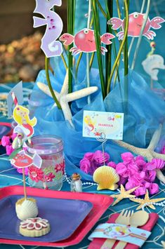 Under the Sea/ Mermaid Party Birthday Party Ideas | Photo 53 of 64 | Catch My Party