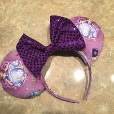 This listing is for one made-to-order First Princess Mouse Ears headband! This is perfect for anyone who loves cute royalty! (like me!)  The