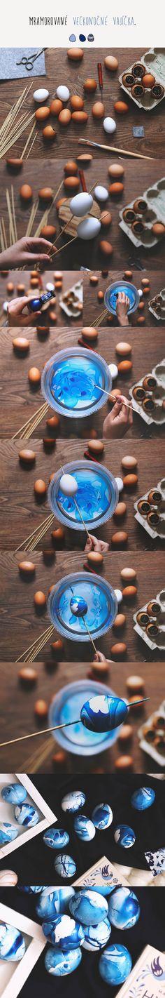Mramorované veľkonočné vajíčka / DIY