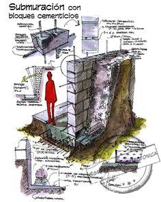 Nueva entrega dw #detallesarquitectonicos y hoy vemos algo de submuración con bloques cementicios