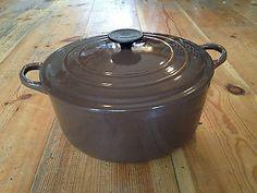 Unusual, Large Vintage Le Creuset Cast Iron Casserole / Round Oven, 5.3l, 26cm