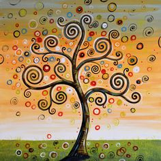 Dreaming Tree by Amy Giacomelli - Dreaming Tree Painting ...