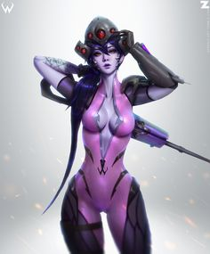 """zeronis-art: """" Tribute Art of Overwatch. Huge fan of the character designs of the game. Of course I wanted to make one of Widowmaker. So here's my personal take on her. This won't be for Patreon nor NSFW. non of that. Simply for me and the fans...."""