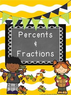 Students will be able to independently complete these percent and fraction review printables.  This product contains three printables covering percents to fractions, as well as fractions to percents.  You will also receive colorful pages showing the steps used to change from percents to fractions and vice versa.