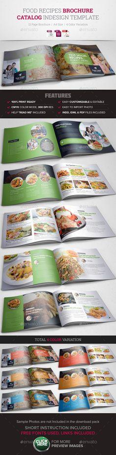 Food Recipes InDesign Brochure Catalog