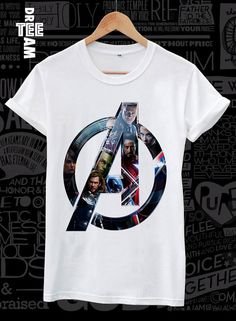 Men or women avengers print on white black or gray by DreamTee