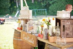 Cocktail area of a Lakeside Wisconsin Wedding photographed by mthree