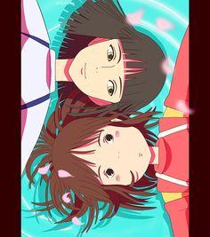 Ghibli Love- Spirited Away Haku and Chihiro Hayao Miyazaki, Totoro, Studio Ghibli Art, Studio Ghibli Movies, Spirited Away Haku, Manga Anime, Personajes Studio Ghibli, Chihiro Y Haku, Film D'animation