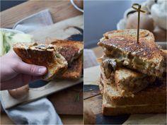 Christina macht was: Grilld Cheese Sandwich mit gerösteten Champignons