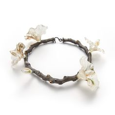 Evert Nijland, Flowers necklace, silver, glass, 2017